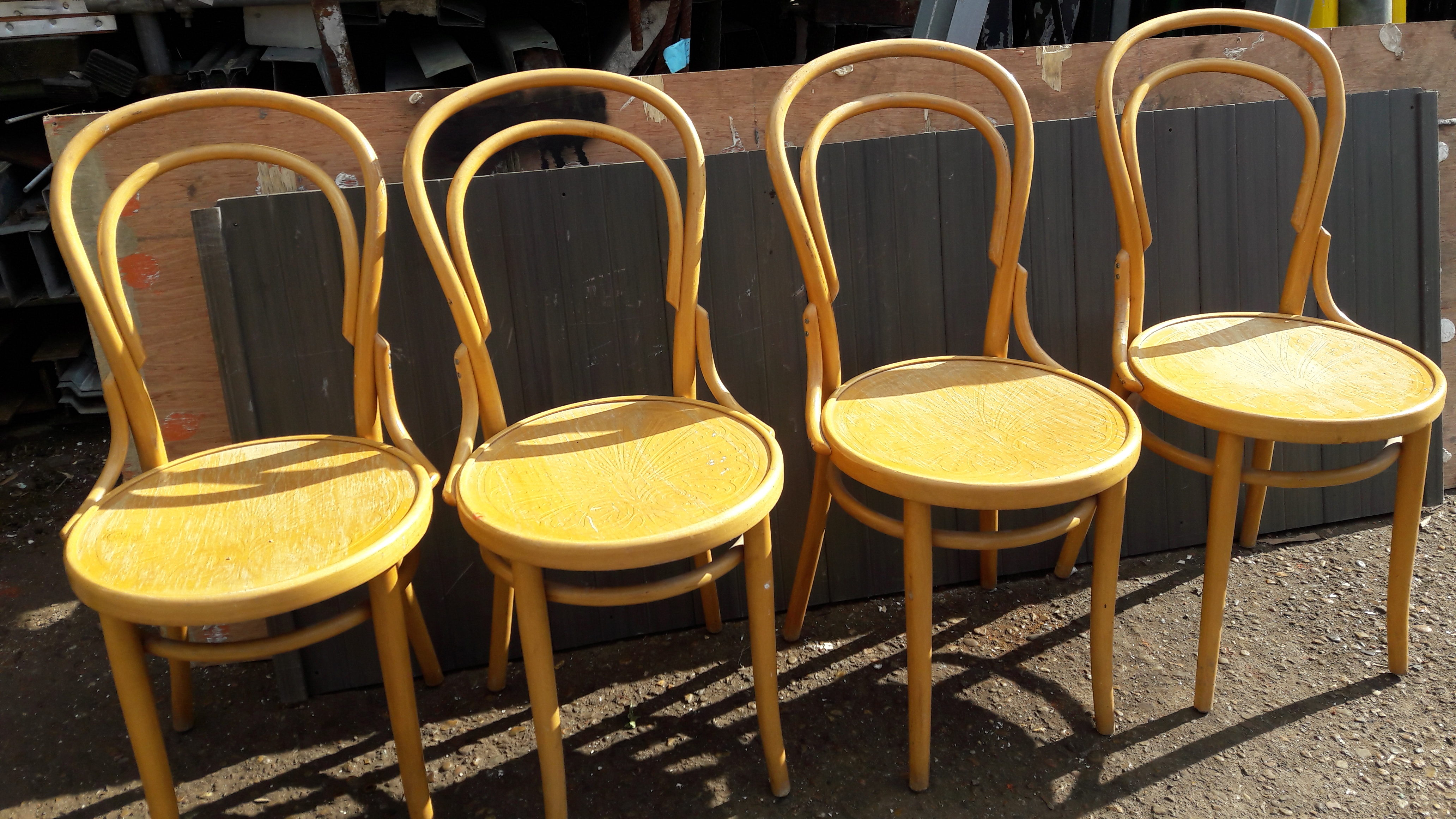 Set Of Four Bentwood Chairs A And D Reclaim