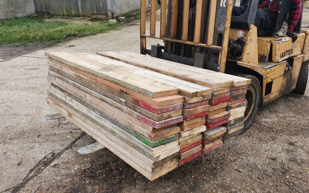 Reclaimed 5ft Scaffold Boards